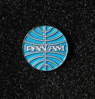 Pin PAN AM baby blue logo round metal replica pin