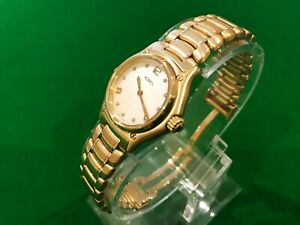 EBEL 1911 SOLID 18KT GOLD - DIAMONDS - MOTHER OF PEARL STUNNING LADIES WATCH
