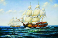 Sailing boat Oil Painting Giclee Art HD Printed on canvas L327