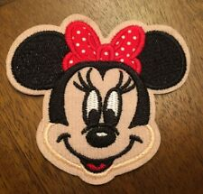 Minnie Mouse Cartoon Embroided Hot Iron On Patch 3""
