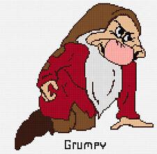 Gruñón-los 7 enanos puntada cruzada contada Kit, Disney, personajes de dibujos animados, películas