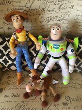 Rare Lot Of Toy Story Dolls Posable 16� Woody 13� Buzz Lightyear Bullseye Bean