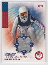 2014 TOPPS OLYMPIC JULIA MANCUSO MEMORABILIA CARD ~ ALPINE SKIING ~ MULTIPLES