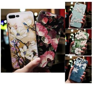 3D Soft Flower Floral Tree Rubber Case Cover Apple iPhone 11 XS Max XR X Plus 7