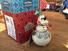 "Rare Disney Tradition 'goofy Wobble Snowman-rocking In A Winter Wonderland' 6"""