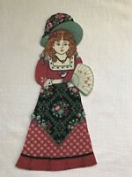 """Victorian Courtship Doll - 1 - Iron-On Fabric Appliques.. 6 7/8"""" Tall.  (M)"""