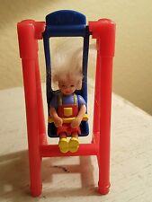 Vintage 1999 McDonald's Meal Mattel Barbie Sister Kelly Toy Doll Girl on Swing