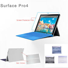 Surface Pro 4 Body Protective Stickers Back Film Protector Scratch Resistant AU