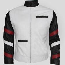 Bruce Lee Popular Vintage Classic White Men's Casual Leather Jacket