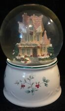 "Pfaltzgraff ""Winterberry"" Welcome 2000 Musical Snow Globe I'Ll Be Home For Xmas"