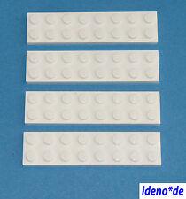 Lego Star Wars Básico Arquitectura 4 Unidades Placa 2 X 8 Blanco 3034 303401