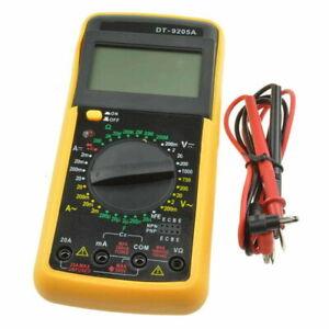 DT9205A Multimètre Numérique Testeur de Capacité Résistance Ampèremètre AC/DC