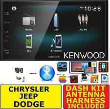 CHRYSLER JEEP DODGE JVC-KENWOOD CREEN MIRROR BLUETOOTH AUX CAR STEREO RADIO PKG