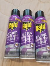 3 Raid Max Foaming Bed Bug Killer, 16.5 Oz New Spray