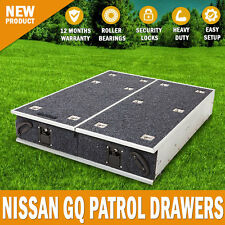 NEW Nissan GQ Patrol Rear Steel Frame Storage Drawers With Carpet