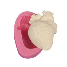 3D Human Heart Silicone Mold Cake Chocolate Halloween Clay Soap Mould DIY CF