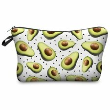 avocado cosmetic makeup bag make up case printed