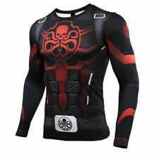 Fitness Compression Hydra Captain America Short Sleeve Bodybuilding Rash Guard