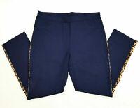 Hose Damen Schlupfhose Stretchhose Zauberhose Stretch Leggings Blau Leo 48-50
