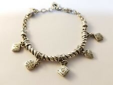 BRIGHTON  5 Charm Silver Link Bracelet