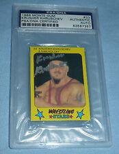 Krusher Khruschev Signed 1986 Monte Gum Pro Wrestling Stars Card PSA/DNA COA WWE