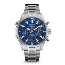 Bulova Mens Stainless Steel Matine Chronograph Watch w/ Quartz Movement, 96B256