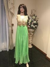 "36"" S Salwar Kameez Bollywood Indian Fancy Party Dress Diwali Green Gold A1"