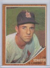 1962 Topps Baseball #579 Jim Schaffer Cards SP Catcher   Very Sharp !!   NM++