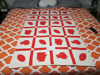 "VINTAGE ARKANSAS RAZORBACK FOOTBALL QUILT 36"" X 56"""