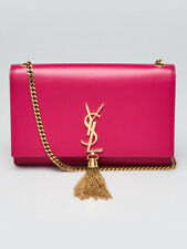 Yves Saint Laurent Pink Smooth Leather Medium Kate Tassel Bag