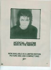 MICHAEL JACKSON Man In The Mirror 1988 magazine ADVERT / Poster 11x8 inches
