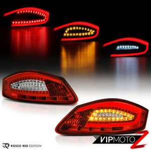 "For 05-08 Porsche 987 Boxster Cayman ""FACTORY RED"" LED Tube Tail Light Assembly"