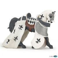 Papo 39786 Pferd des Paladin 13 cm (Ritter weiß) Ritterwelt