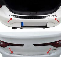 2016Up Renault Megane IV SD Chrome Rear Bumper Protector Scratch Guard S.Steel