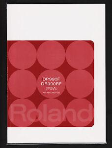 2010 Roland Digital Piano DP990F & DP990RF Owners Manual