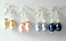 Crystal Glass Mixed Metals Costume Earrings