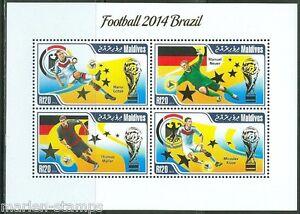 MALDIVES 2014 SPORTS BRAZIL WORLD CUP SOCCER SHEET
