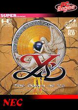 YS IV l'alba di YS turbo grafx CD incorniciato stampa (MAN Grotta Foto Poster gioco)