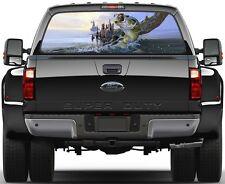 Fish Bass Fisherman Fishing Version 1 Rear Window Graphic Decal Truck SUV