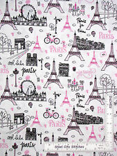 Paris France Fabric -  Eiffel Tower City Scenes CM3577 Timeless Treasures - Yard