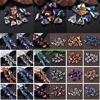 10//30pcs 19X8mm ovale à facettes Crystal Glass Loose Spacer Beads Lot Jewelry Making