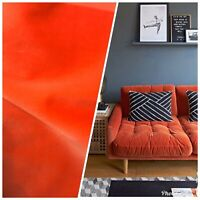 NEW Belgium Velvet Upholstery Fabric - Soft Orange Coral- By The Yard