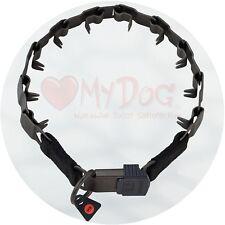 "Herm Sprenger Black Stainless Steel Neck Tech Sport Buckle Prong Collar 60cm/24"""