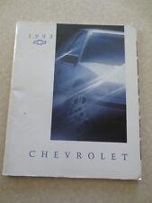 1993 Chevrolet Cavalier Beretta Corsica Caprice advertising booklet Canada