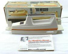 Moulinex 294 elektromesser allesschneider vintage 1977 orange OVP wandhalterung