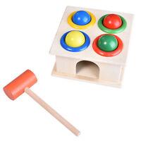 Wooden Ball Hammer Box Case Early Learning Educational Developmental Toy EO JCAU