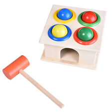 Wooden Ball Hammer Box Case Early Learning Educational Developmental Toy OE