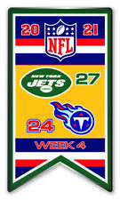 2021 Semaine 4 Bannière Broche NFL New York N.y. Jets Vs.Tennessee Titans Super