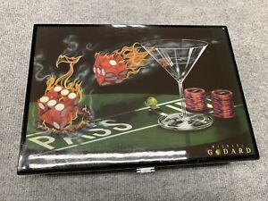 Michael Godard Praying For Seven Poker Chip Set Lacquer Collector Box