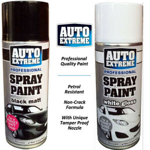 400ml Professional Black Matt Spray Paint Auto Extreme DIY Wood Metal White New